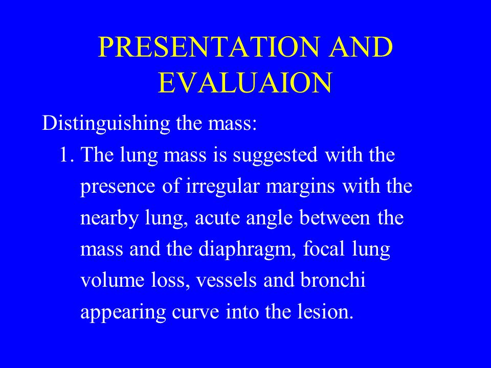 PRESENTATION AND EVALUAION Distinguishing the mass: 1.
