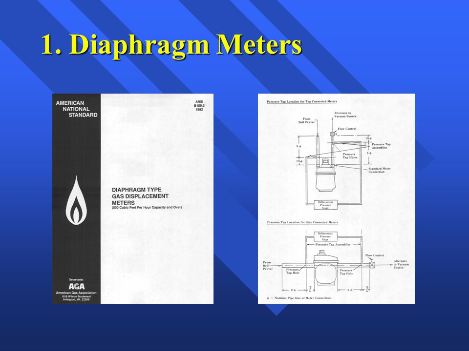 Size of diaphragm meter operating at elevated pressure needed for a load.