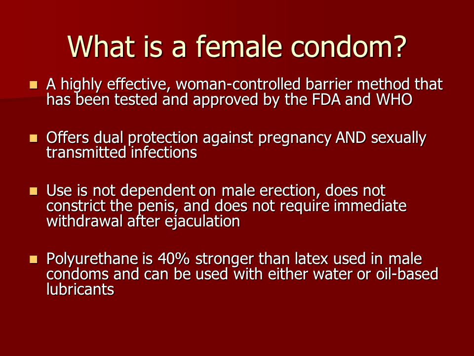 What is a female condom.