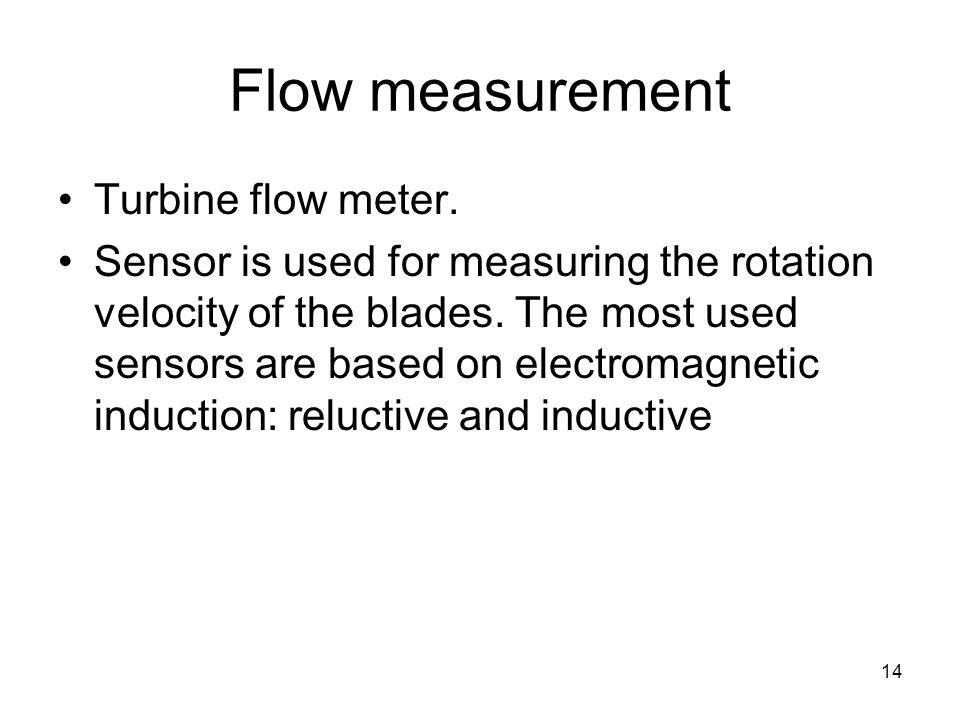 14 Flow measurement Turbine flow meter.