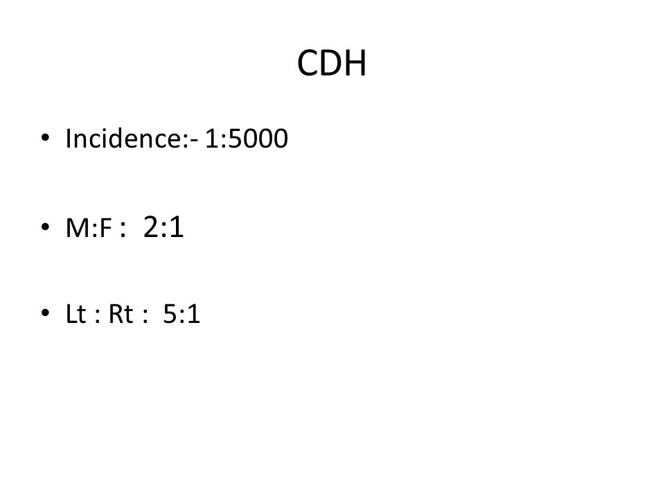 Defects in diaphragm