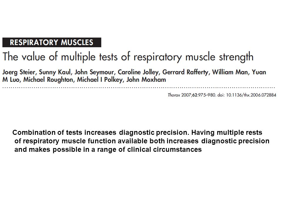 Combination of tests increases diagnostic precision.