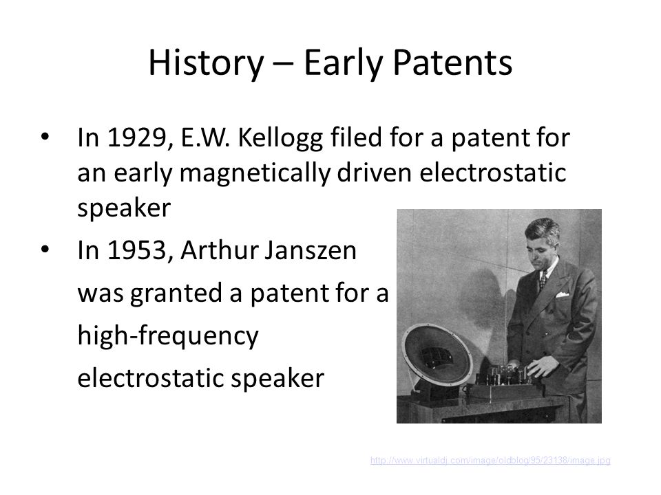 History – Early Patents In 1929, E.W.