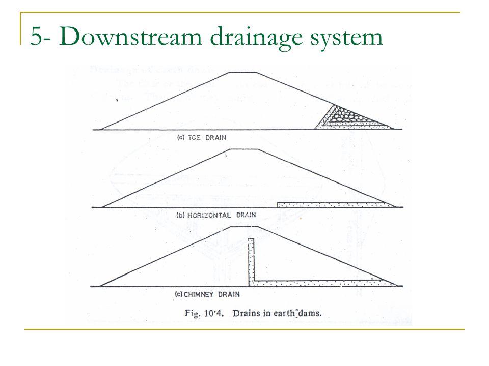 5- Downstream drainage system