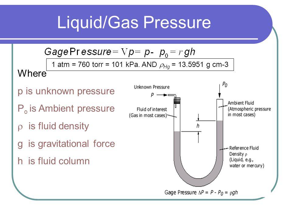 Manometers http://www.chm.davidson.edu/vce/GASL AWS/Pressure.html http://www.chm.davidson.edu/vce/GASL AWS/Pressure.html