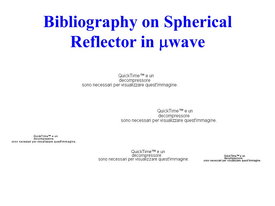 Bibliography on Spherical Reflector in  wave