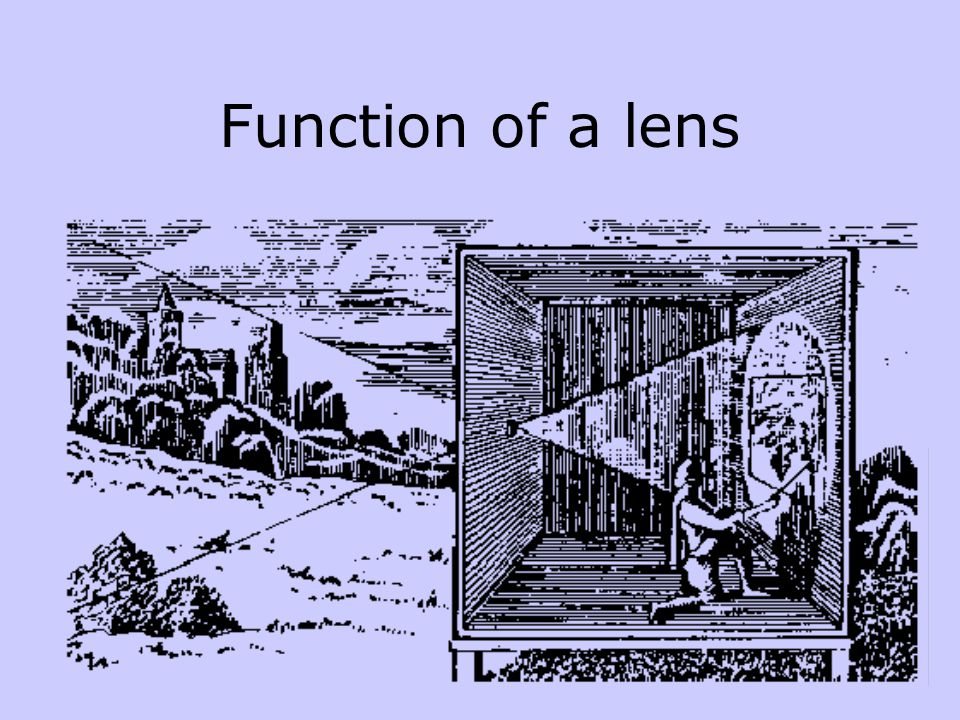 Function of a lens