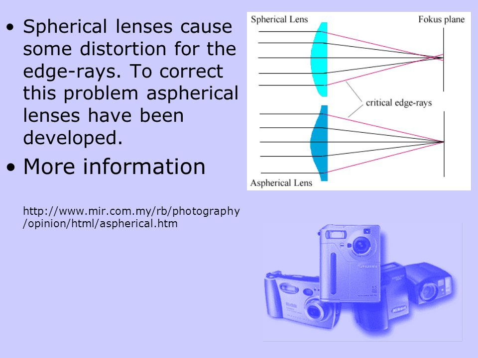 Focal Length of a Lens Focal length is measured in millimeters.