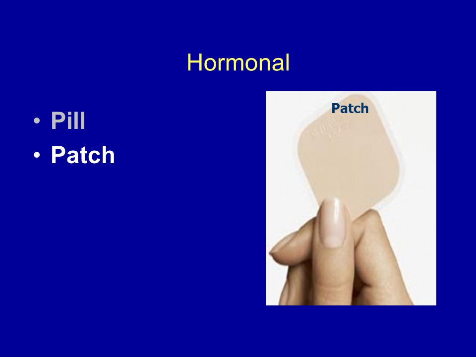 Hormonal Pill Patch