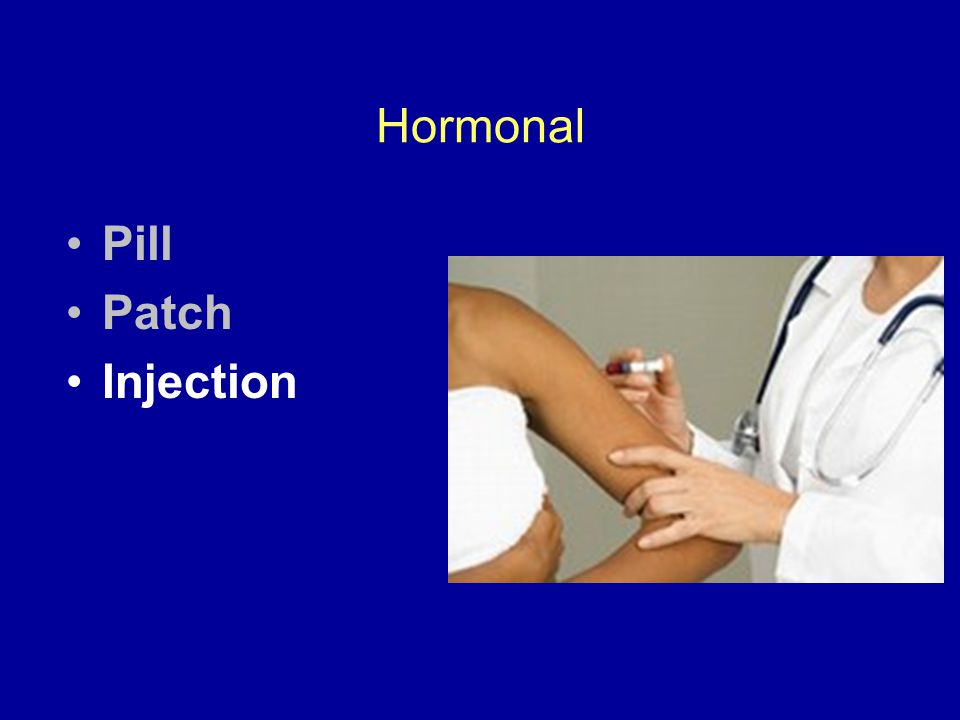 Hormonal Pill Patch Injection