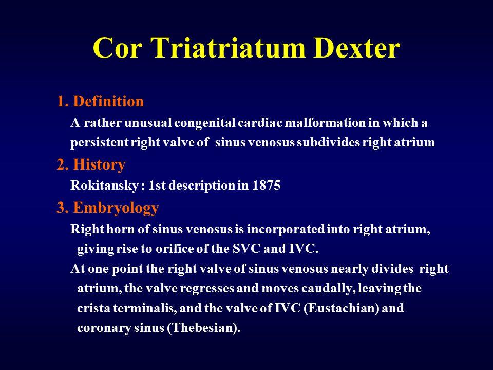 Cor Triatriatum Dexter 1.