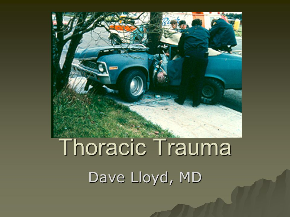 Pathophysiology of Thoracic Trauma Pulmonary Injuries  Tension Pneumothorax –Buildup of air under pressure in the thorax.