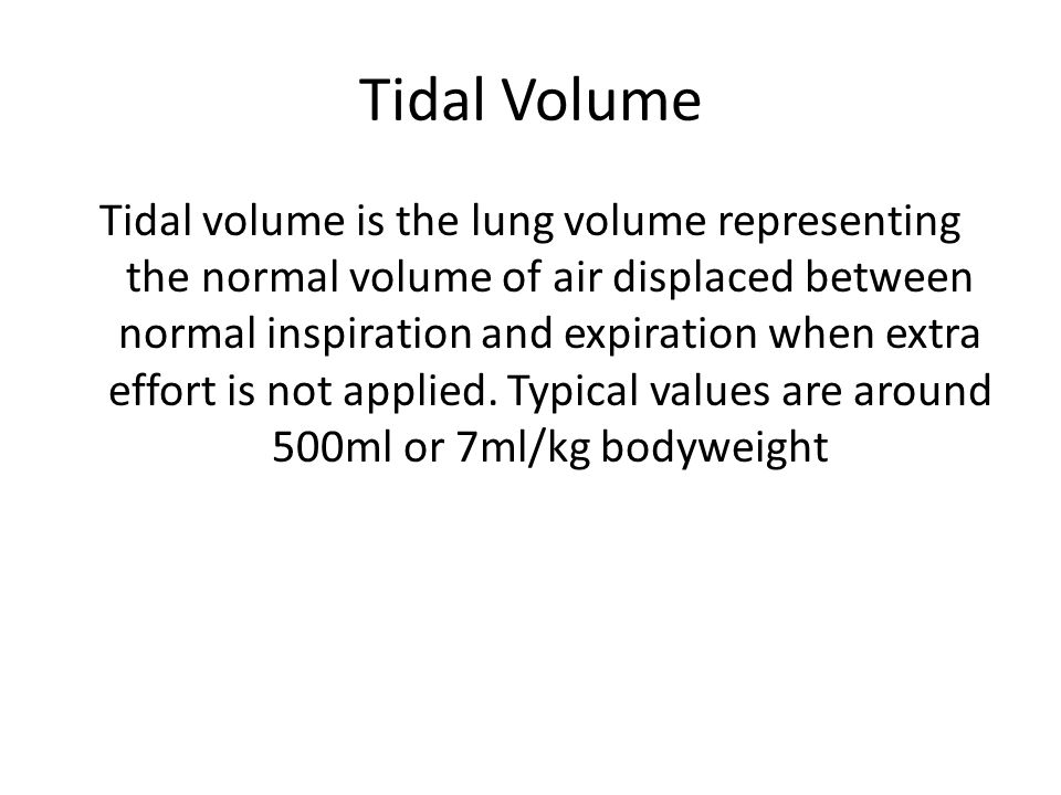Lung Volumes Respiratory Rate – Amount you can breathe in in one minute Equal to approx 12 BPM = 6 Litres of air passes through lungs During exercise