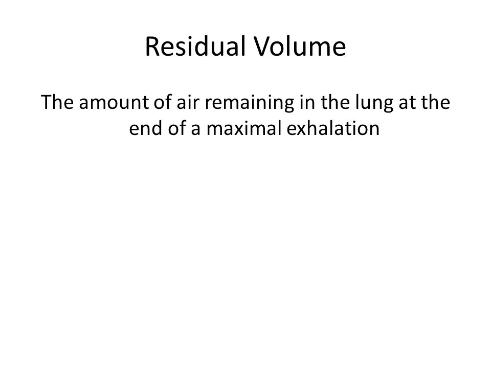 Vital Capacity Vital Capacity is the amount of air that can be forced out of the lungs after maximal inspiration. The volume is around 4,800cm3