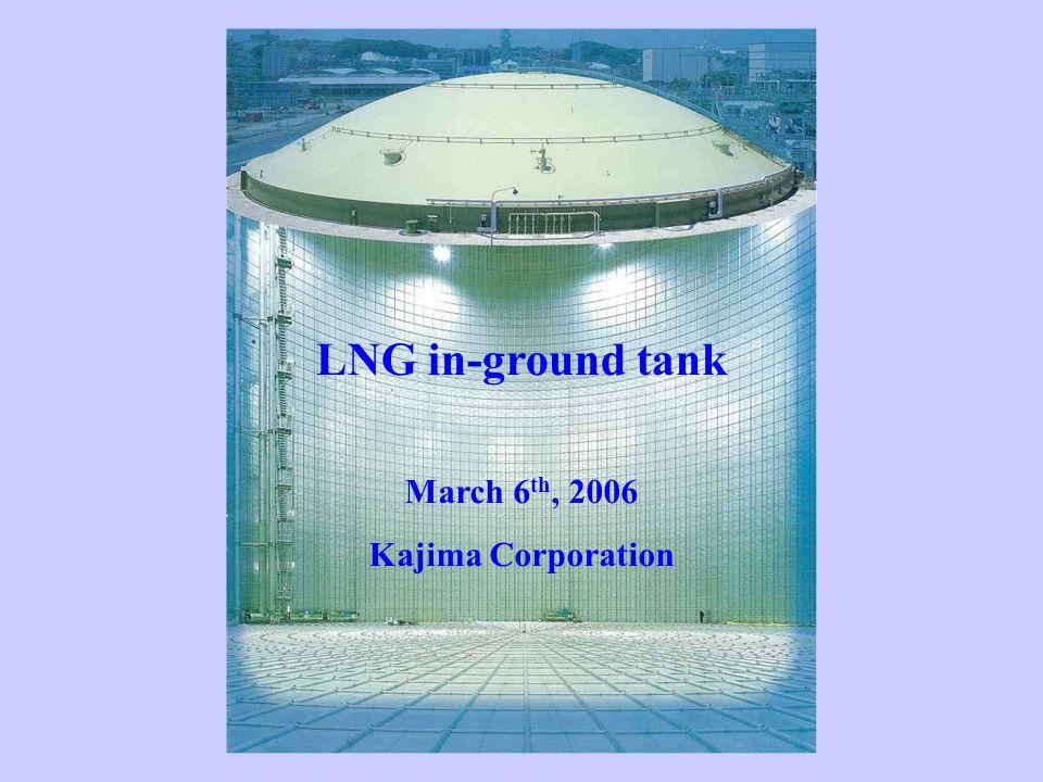 LNG in-ground tank March 6 th, 2006 Kajima Corporation