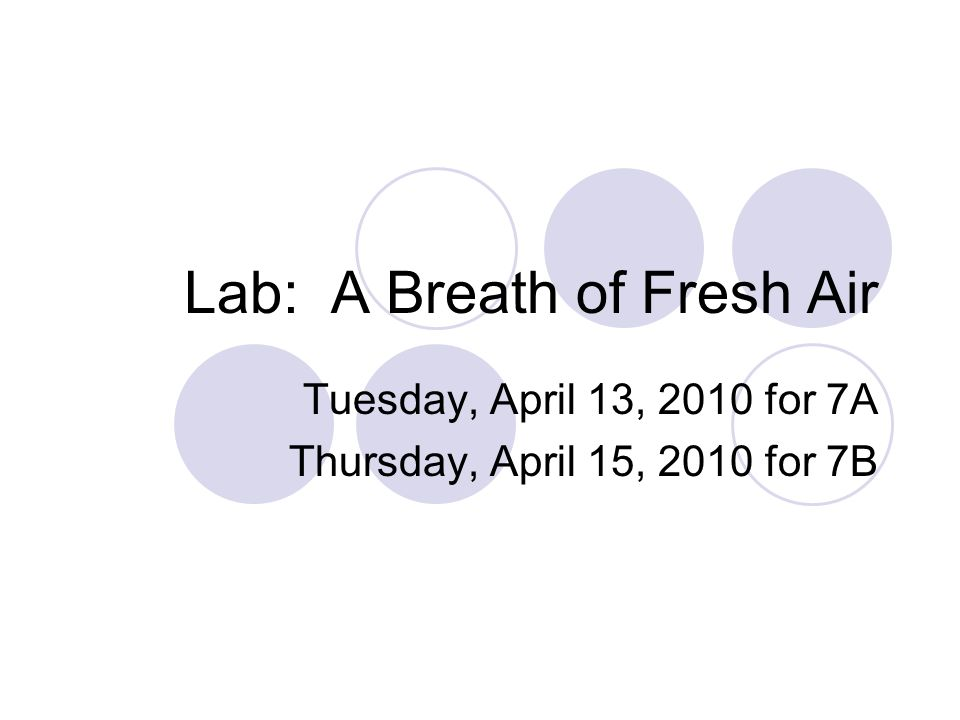 One Final Word… Your typed lab report is due on Friday, April 16th for 7A and April 20 for 7B.