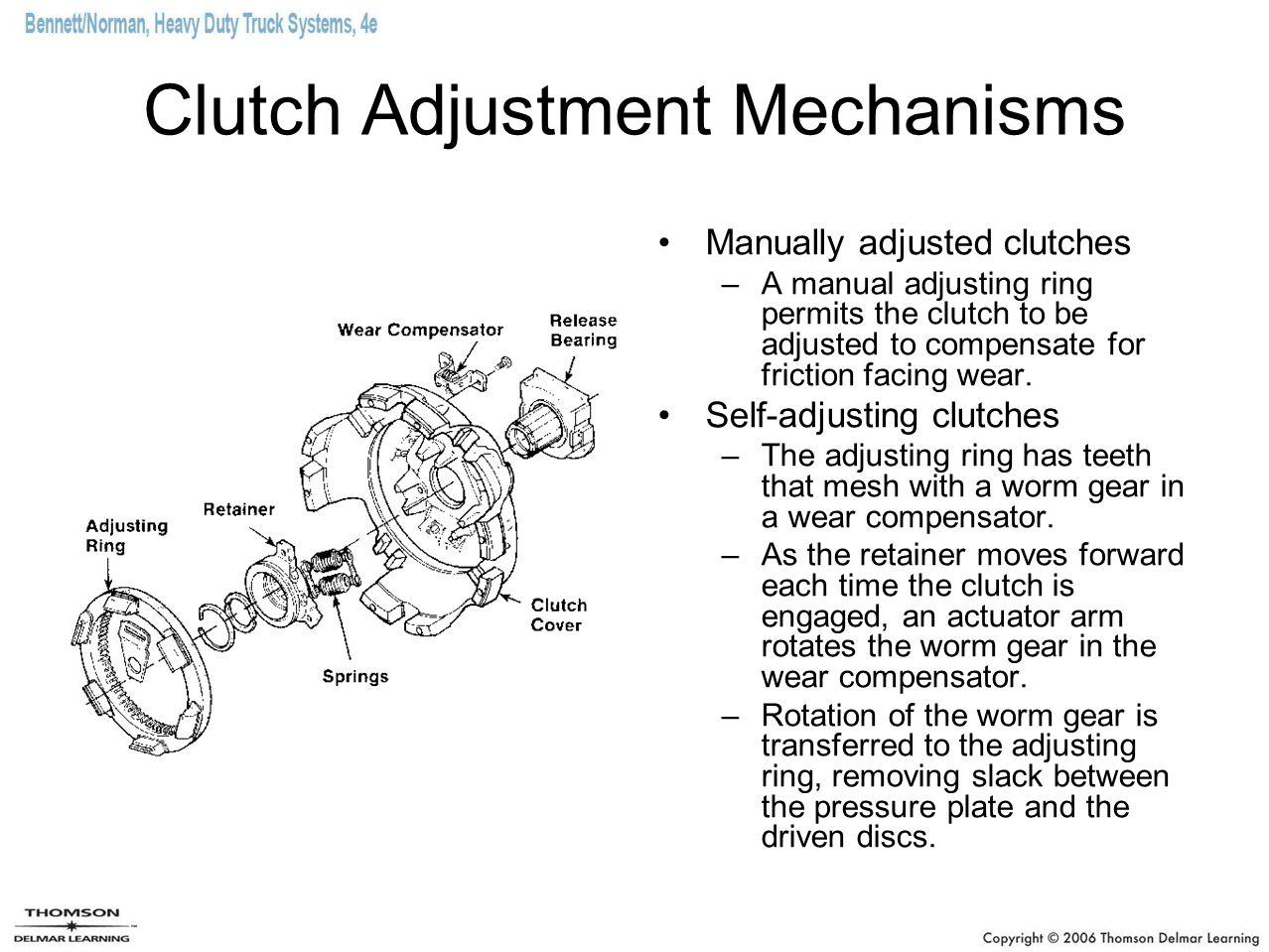 Hydraulic Clutch Linkage The clutch is disengaged by hydraulic fluid pressure sometimes assisted by an air servo cylinder.