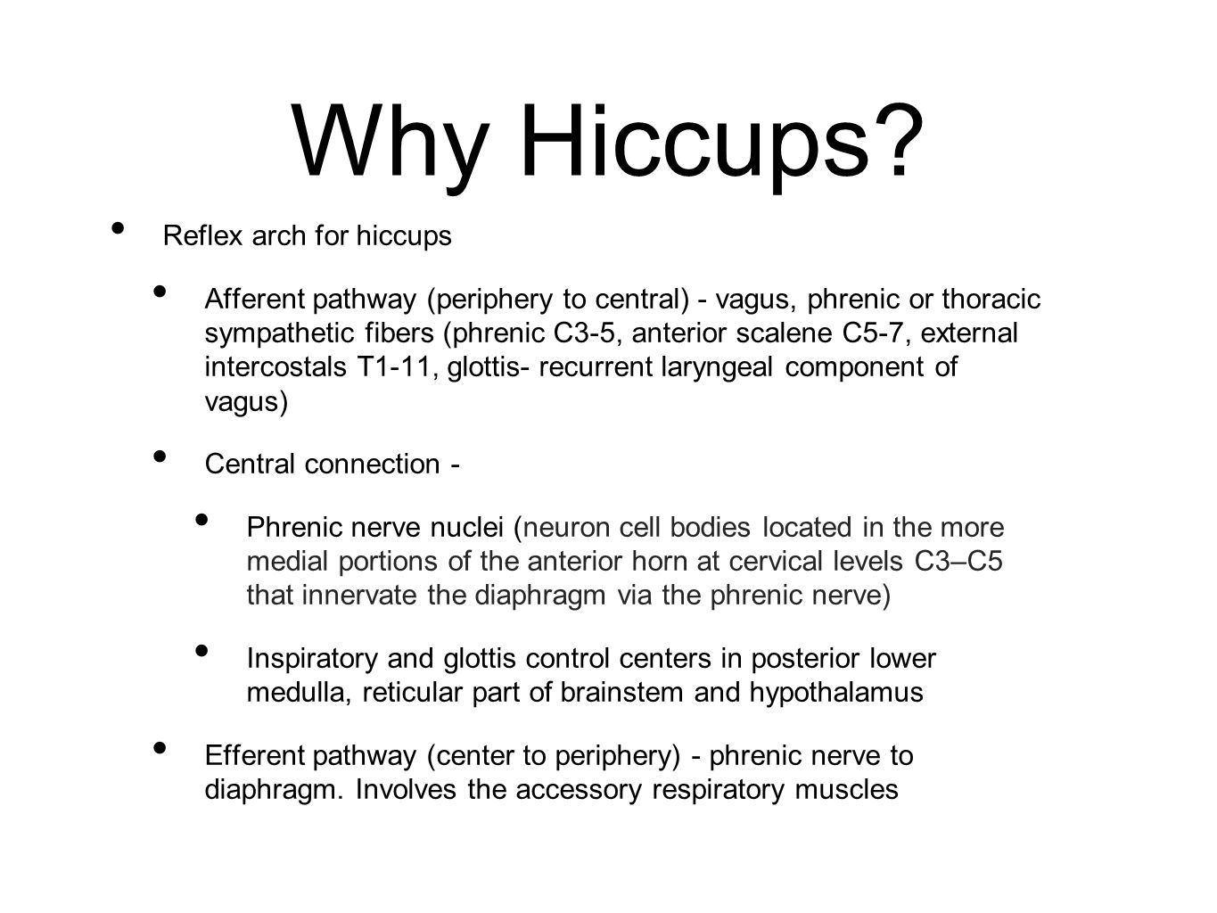 Why Hiccups.