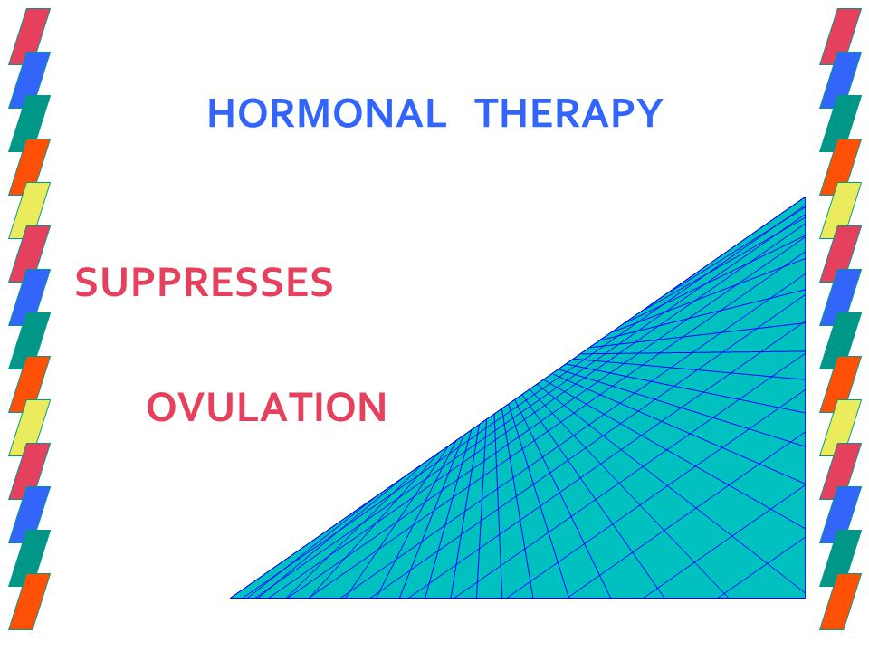 HORMONAL THERAPY SUPPRESSES OVULATION