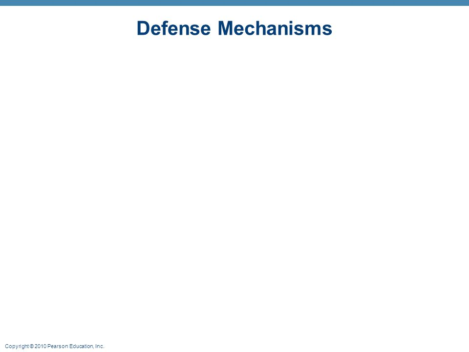 Copyright © 2010 Pearson Education, Inc. Defense Mechanisms