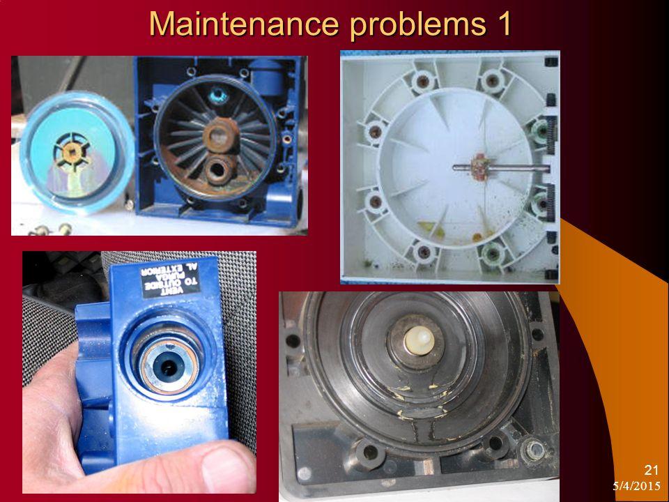 5/4/2015 www.OperatorSchool.com 21 Maintenance problems 1