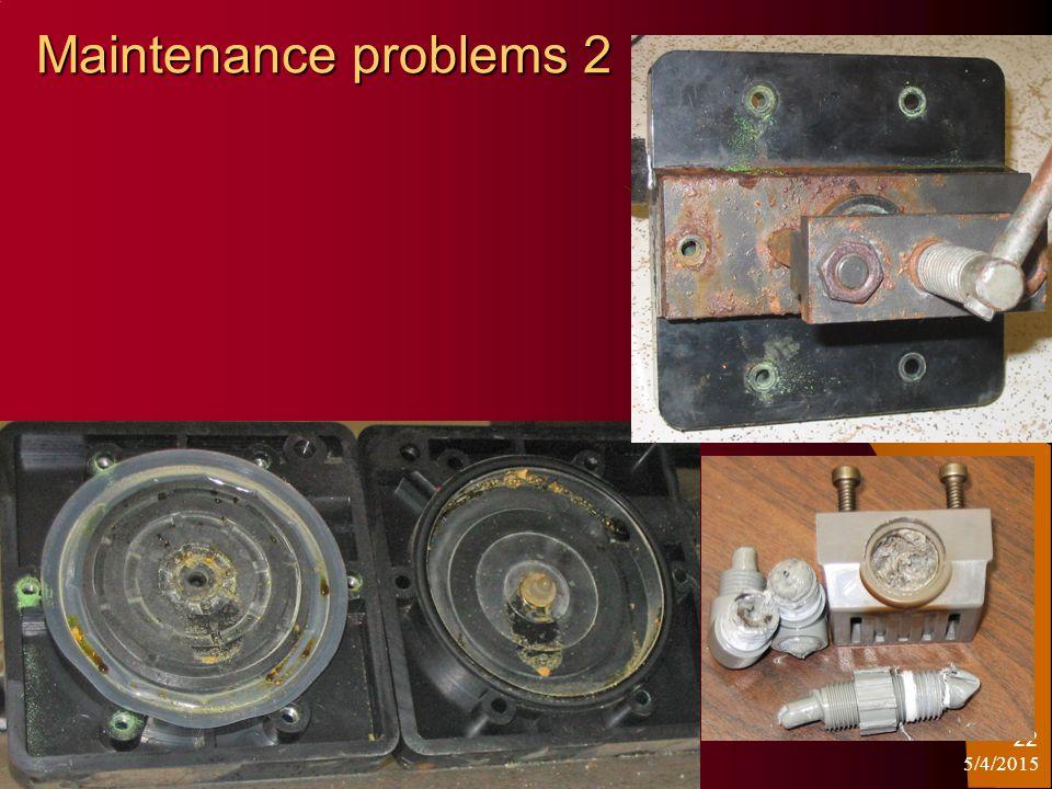 5/4/2015 22 Maintenance problems 2