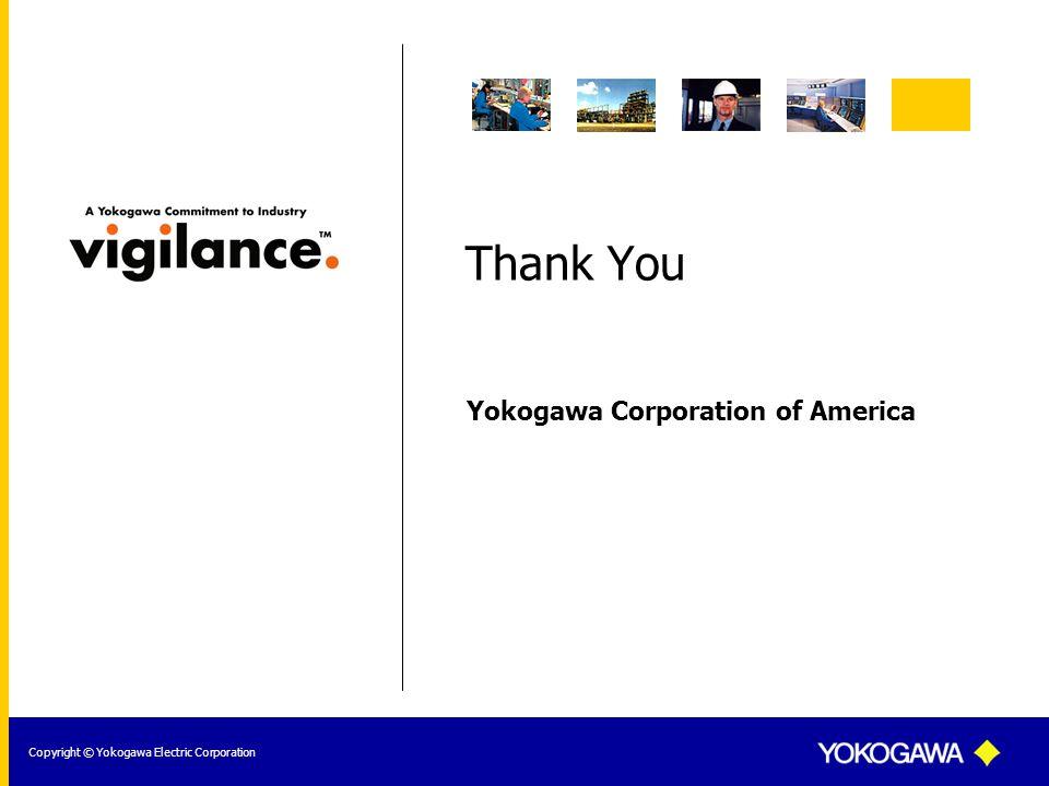 Yokogawa Corporation of America Copyright © Yokogawa Electric Corporation Thank You