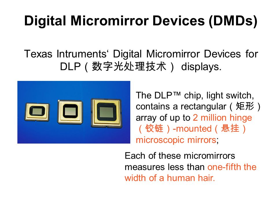 Fig. 8.23 SEM (扫描电镜) micrograph of a close- up view of a DMD pixel (像素) array MEMS/NEMS Devices