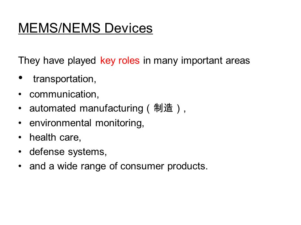 MEMS/NEMS Devices Fig.