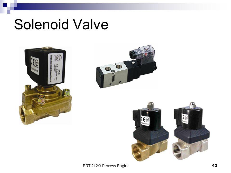 Solenoid Valve 43 ERT 212/3 Process Engineering Skills