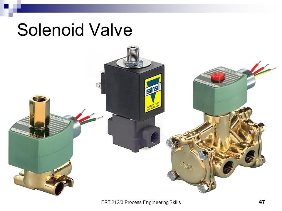 Solenoid Valve 47 ERT 212/3 Process Engineering Skills