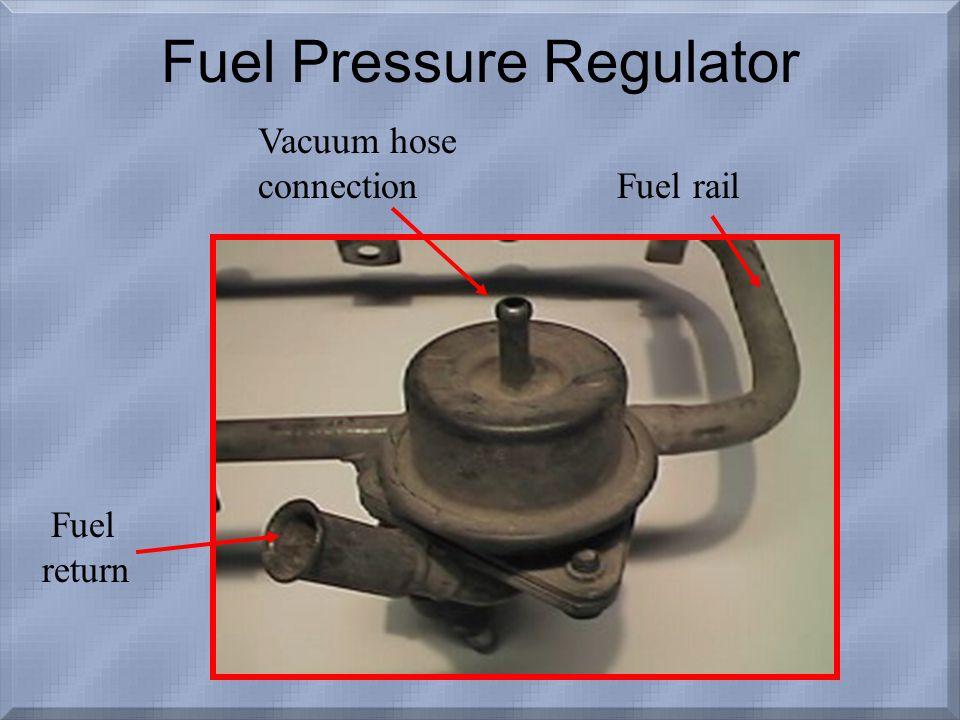Fuel return Vacuum hose connection Fuel rail Fuel Pressure Regulator