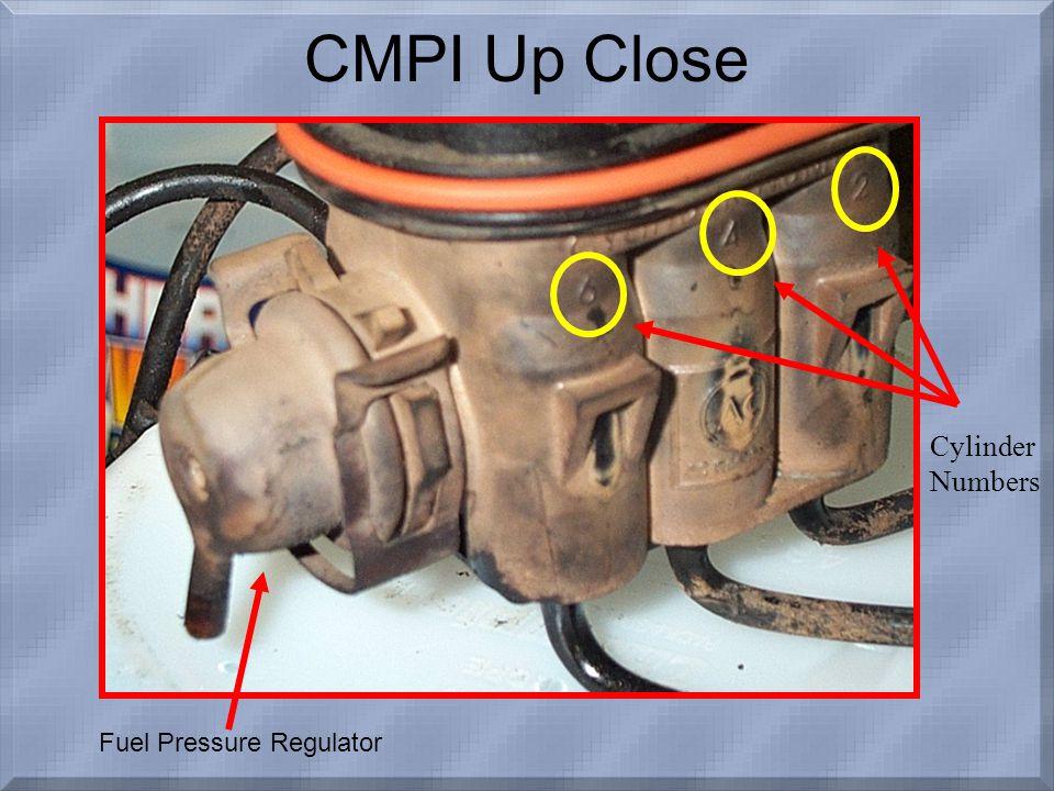 CMPI Up Close Fuel Pressure Regulator Cylinder Numbers
