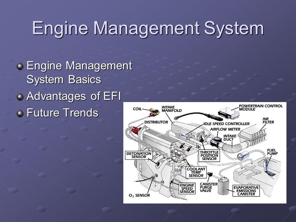 Engine Management System Engine Management System Basics Advantages of EFI Future Trends