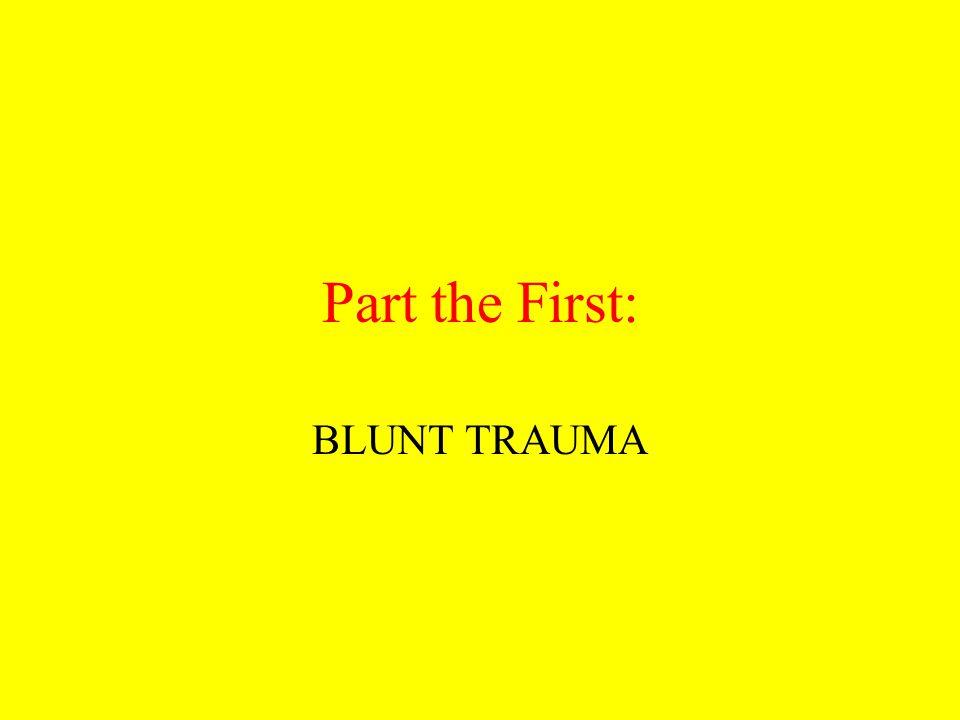 Part the First: BLUNT TRAUMA