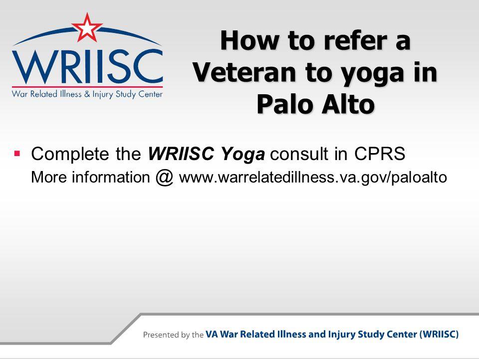 Contact Us WRIISC Washington, DC wriisc.dc@va.gov 1-800-722-8340 wriisc.dc@va.gov WRIISC East Orange, NJ wriisc.nj@va.gov 1-800-248-8005 wriisc.nj@va.gov WRIISC Palo Alto, CA wriisc.pa@va.gov 1-800-482-3297 wriisc.pa@va.gov
