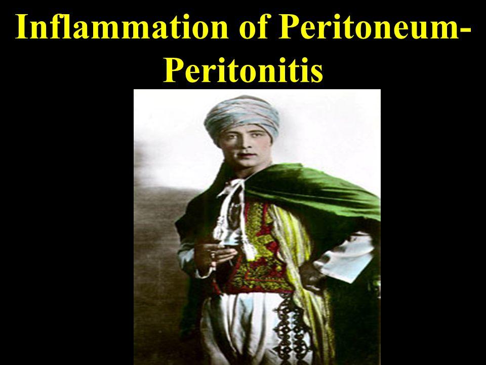 Inflammation of Peritoneum- Peritonitis