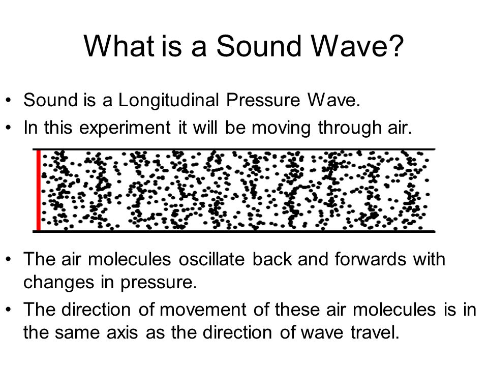 What is a Sound Wave. Sound is a Longitudinal Pressure Wave.