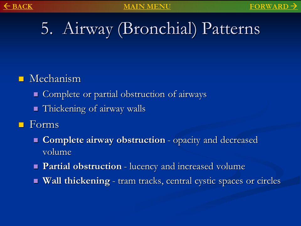 Bronchial wall thickening (circles and tram tracks ) Flattened diaphragms on lateral  BACKMAIN MENU BACKMAIN MENU FORWARD FORWARD 