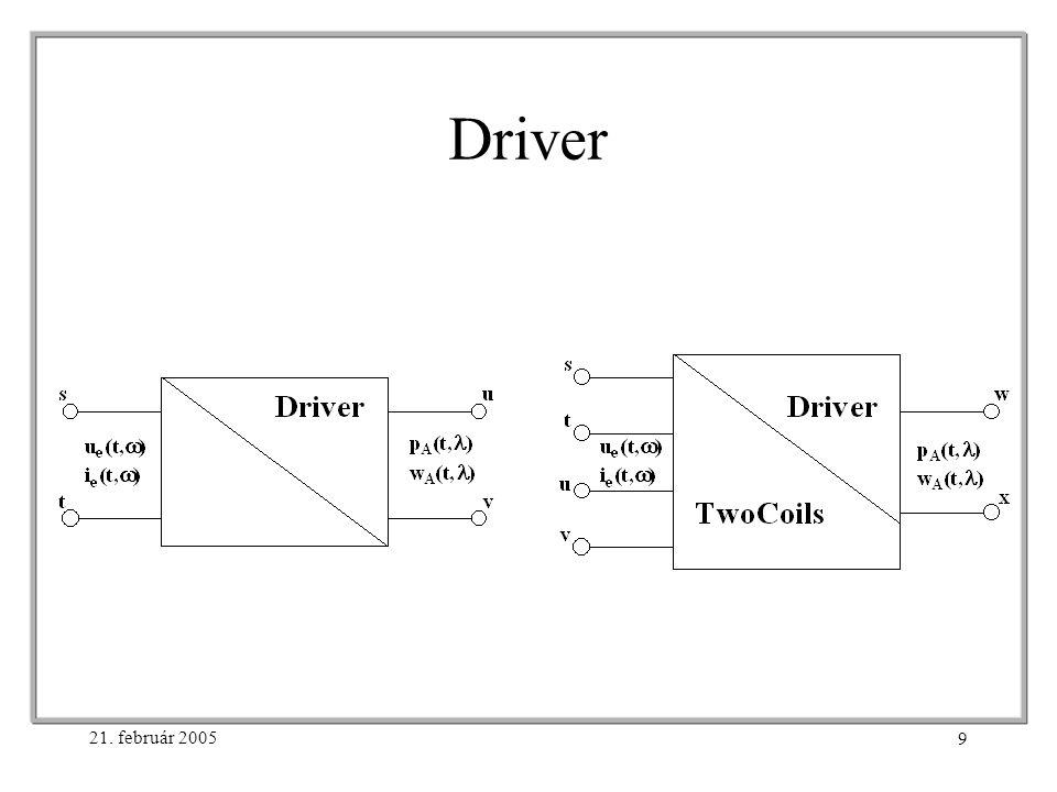 21. február 2005 9 Driver