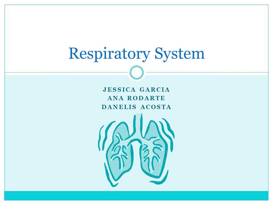 JESSICA GARCIA ANA RODARTE DANELIS ACOSTA Respiratory System