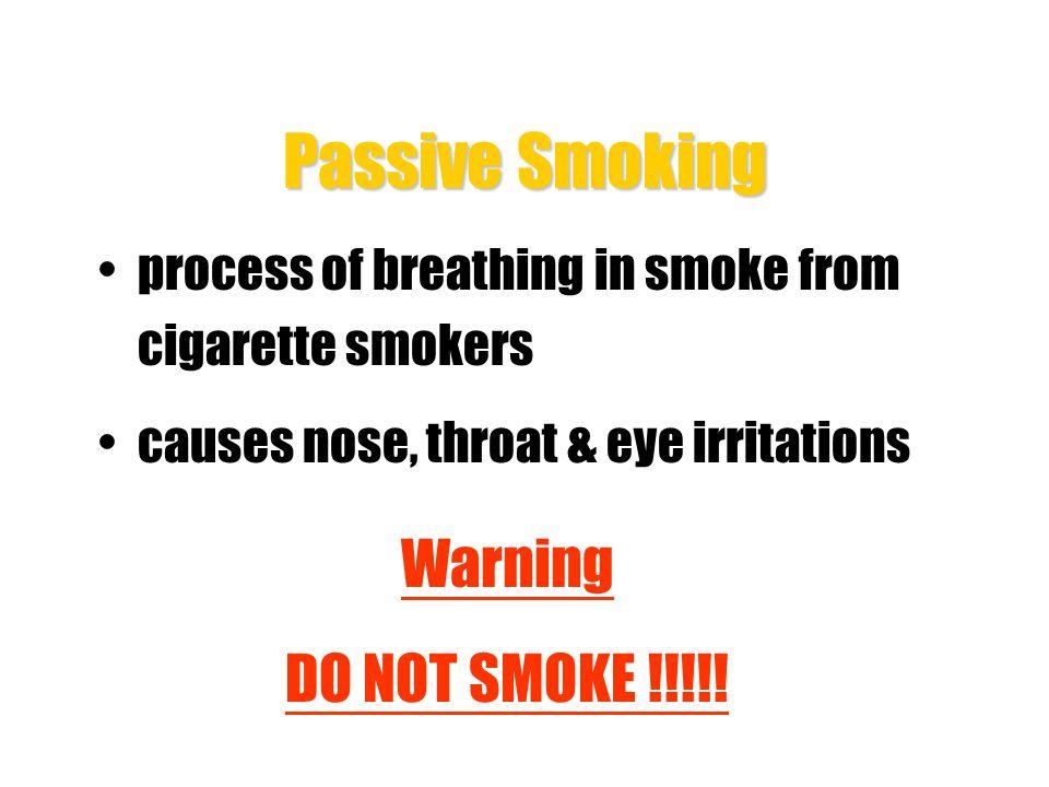 Smoking and Health Hazards 3.Chronic bronchitis Smoking causes inflammation of trachea and bronchitis The severe chronic bronchitis can cause death 4.