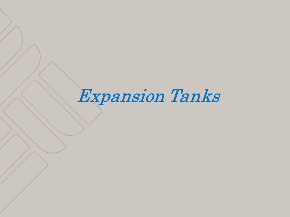 1 Expansion Tanks