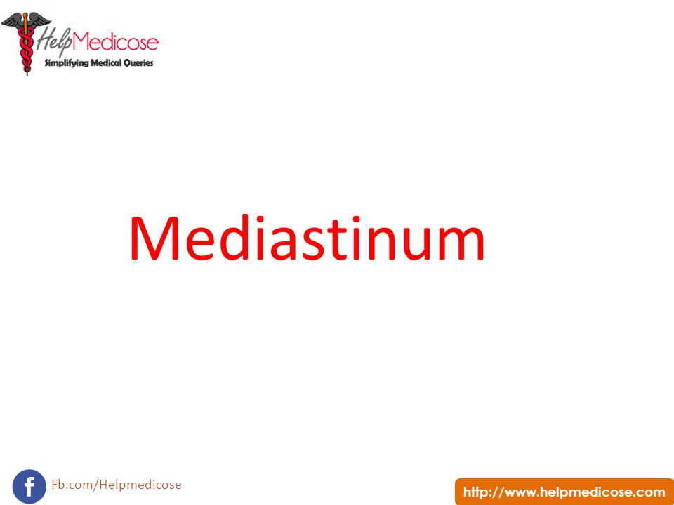 http://www.helpmedicose.com Fb.com/Helpmedicose Mediastinum