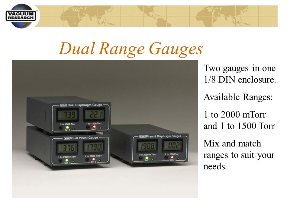 Dual Range Gauges Two gauges in one 1/8 DIN enclosure.