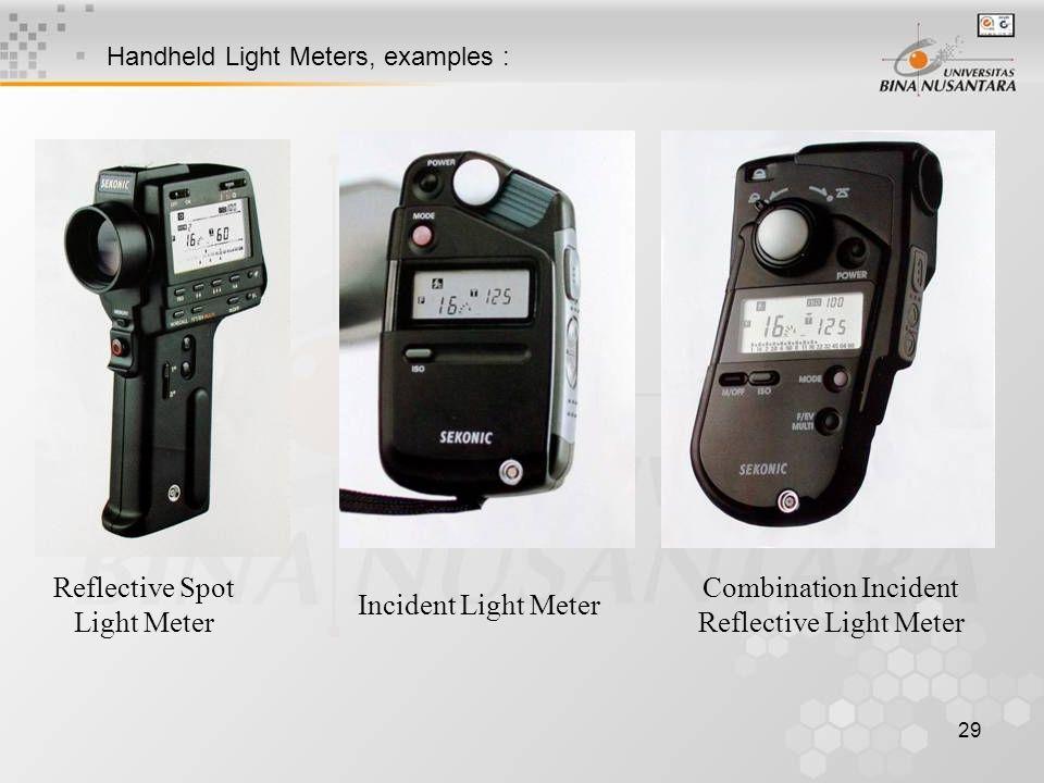 29 Reflective Spot Light Meter Incident Light Meter Combination Incident Reflective Light Meter Handheld Light Meters, examples :