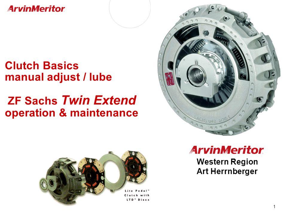 1 Clutch Basics manual adjust / lube ZF Sachs Twin Extend operation & maintenance Western Region Art Herrnberger