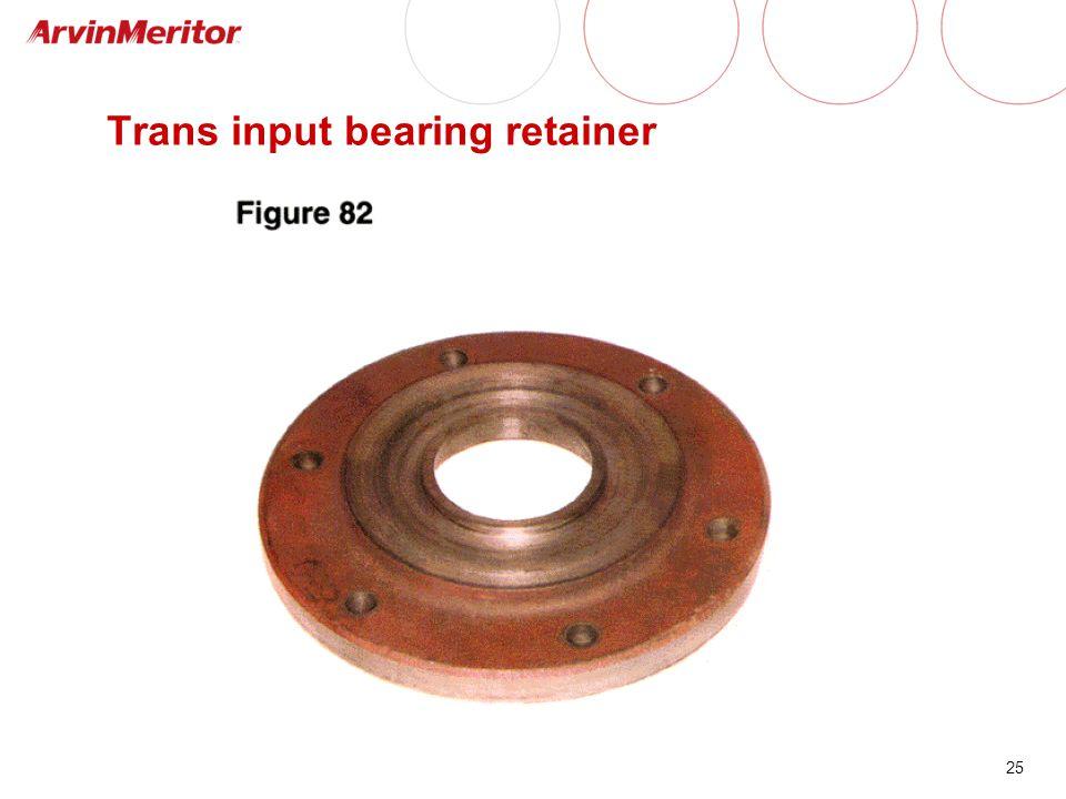 25 Trans input bearing retainer