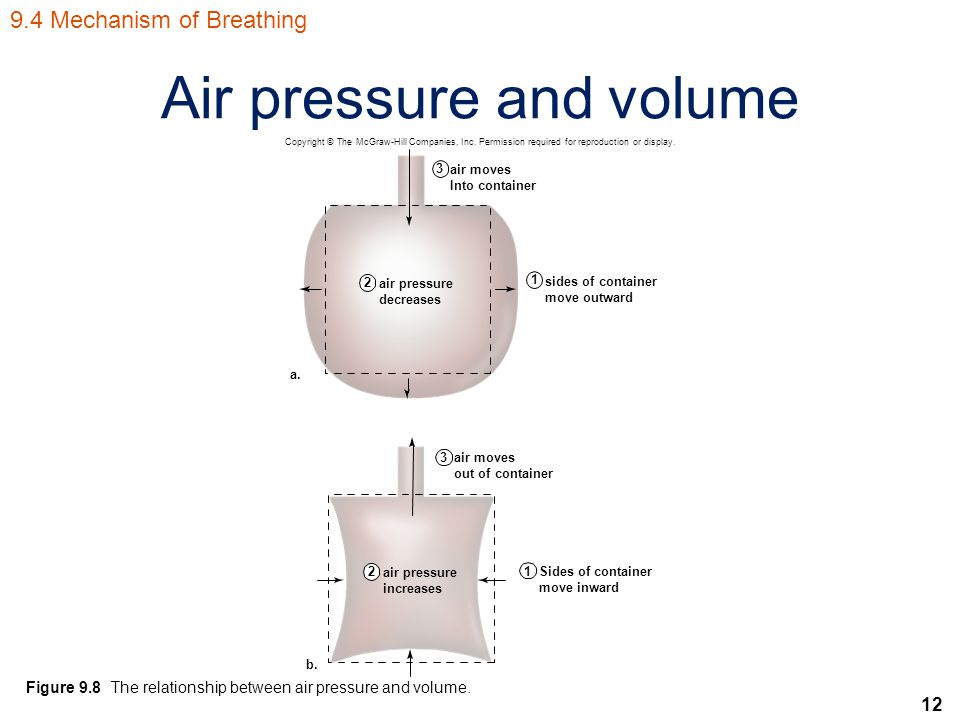 12 Air pressure and volume Figure 9.8 The relationship between air pressure and volume.