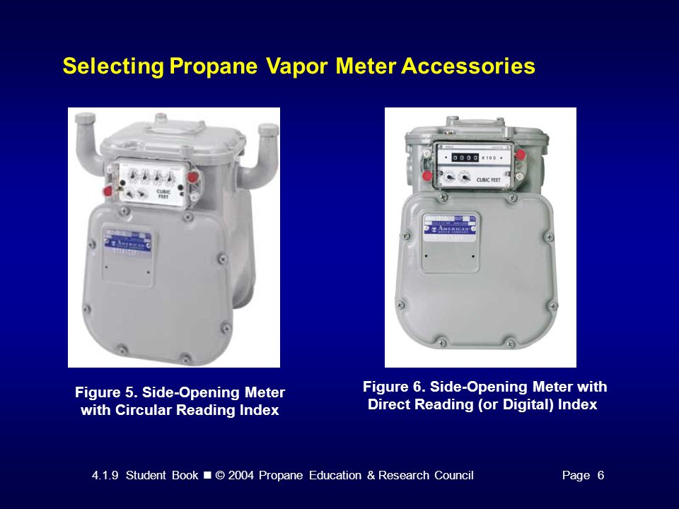4.1.9 Student Book © 2004 Propane Education & Research CouncilPage 6 Selecting Propane Vapor Meter Accessories Figure 5.
